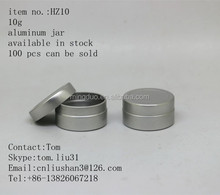 10g aluminum jar facial mask cream jar cosmetic jar