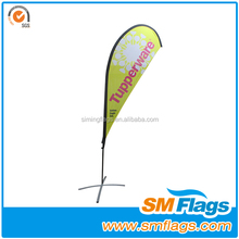 Custom Advertising outdoor teardrop flying feather flag pole&beach flags
