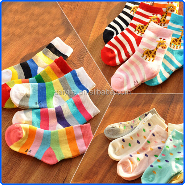 Cold Winter Cute Many Different Designs Thick Cotton Keep Warm Children Girls Terry Socks