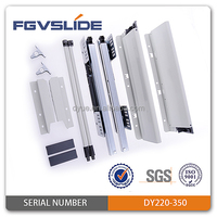 86mm soft close double wall slides for drawer