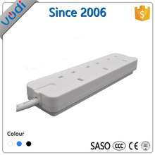 UK style 3 way 230V tabletop extension socket / power strip