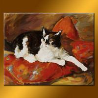 Newest design decorative animal art oil painting
