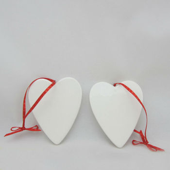 heart shape hanging christmas decoration
