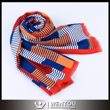 New Fashion Colorful Stripe Wool Shawl