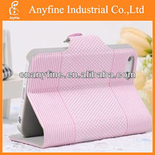 stripe leather case with stand for iphone & Samsung & other mobile phones