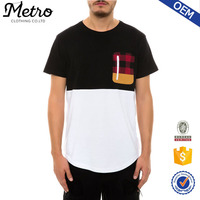 2015 Custom Made Stylish Men Zipper Pocket T Shirt