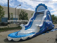 wave inflatable water slide,inflatable slide with pool good design and best price A4039