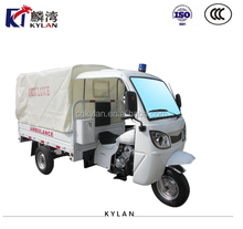 200CC Three Wheel Ambulance Tricycle Motorcycle / Ambulance Three Wheeler with canvas cabin