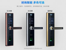 sliding cover network biometric door lock