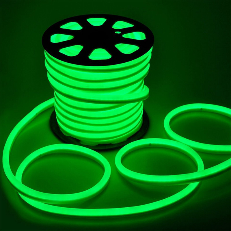 110V 220V led flex neon rope light 2-wires with 80led/m Red/Blue/Green/RGB/White/Yellow Color