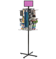 Retail Store Metal Revolving Cell Phone Accessory Display Stand