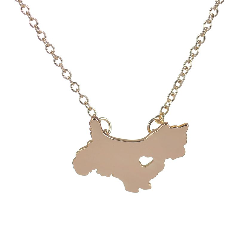 Fashion Cute Westie Pendant Necklaces Puppy Heart Dog Lover Memorial Pet Necklaces & Pendants Women Birthday Gift XL204