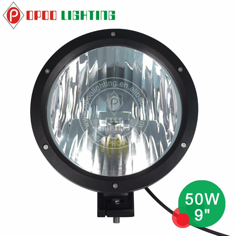 Led motorcycle driving lights, new 9 inch 50w led motorcycle driving lights