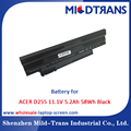 Cheap Laptop Battery Replacement Notebook Battery for ACER D255 11.1V 5.2Ah 58Wh Black