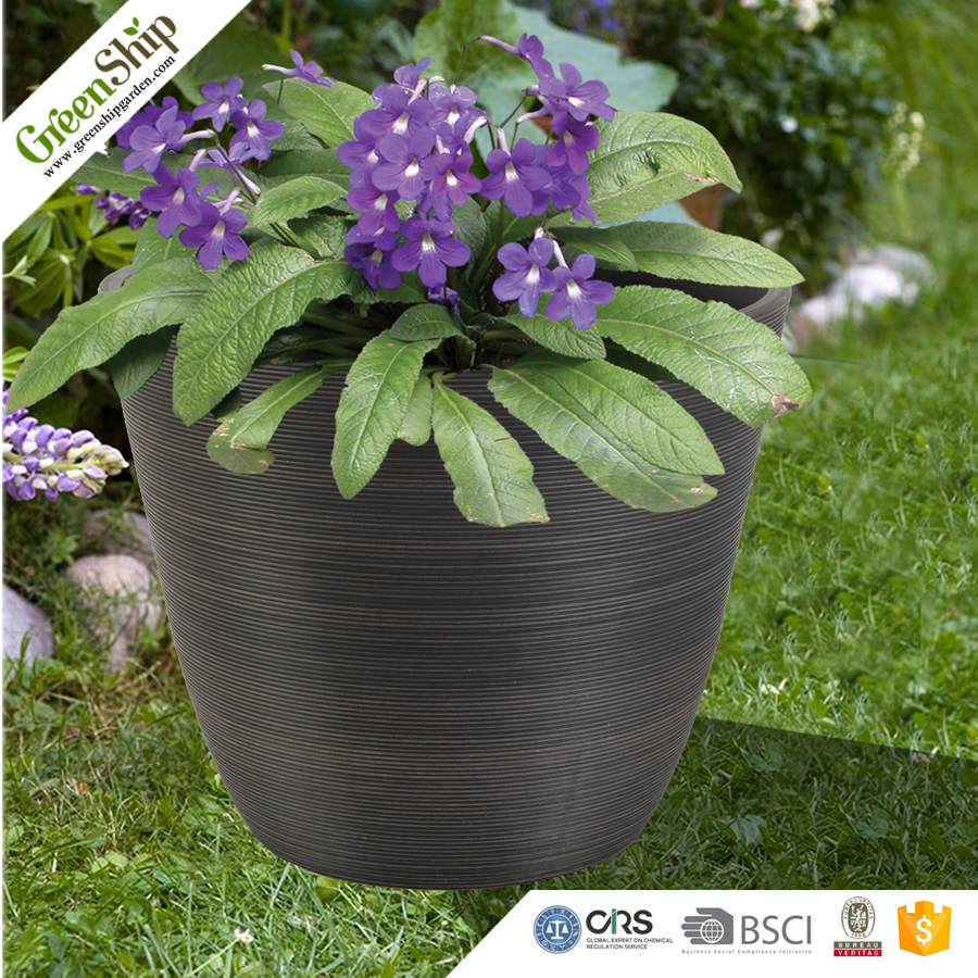 Indoor Durable Plastic Cute Flower Pot for Christmas Decoration