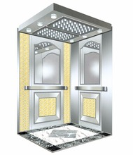 Mirror etching stainless cabin decoration for elevator lift
