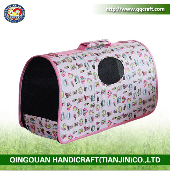QQ Petbed Factory China wholesale customized diy pink unique pet carriers