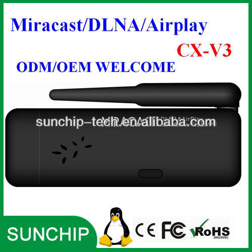 Wifi Display Miracast TV Dongle with External Wifi Antena CX-V3