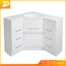 Corner Bathroom Modern Designs White Color Waterproof Partition Cabinet