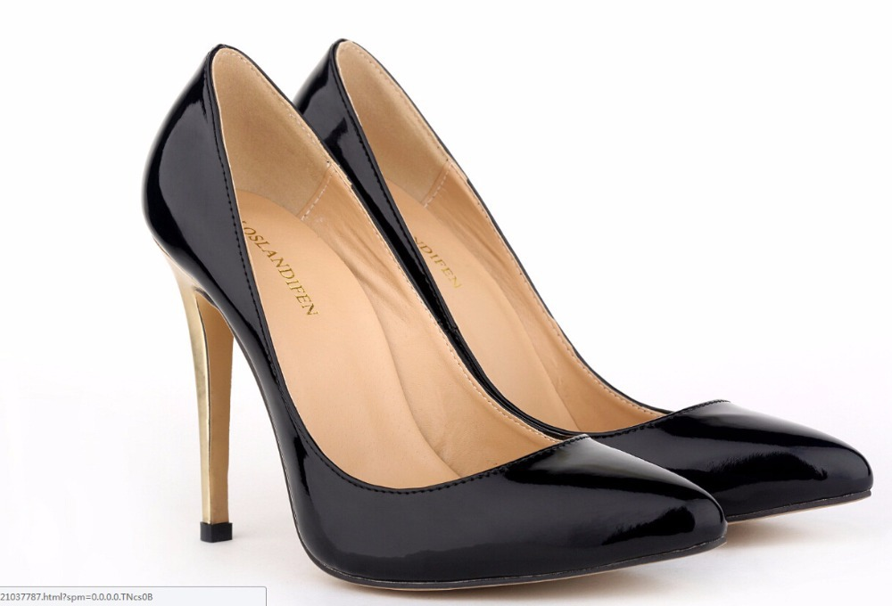 Get Quotations · Red Bottom High Heels Leather Gold high-heeled Women Pumps  Pointed Toe Wedding Shoes Woman e32c98cf4cb4