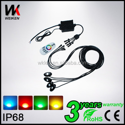 RGB Rock Light With Remote For Decorative Car Or Boat Underbody
