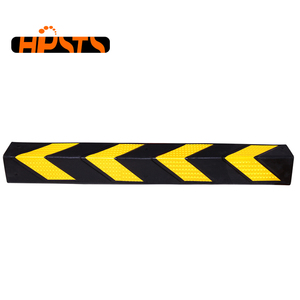 Yellow reflective durable garage parking rubber corner guard