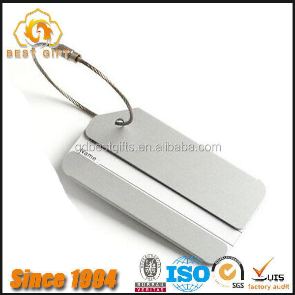 Newest design custom metal luggage tag