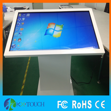 42 inch Free standing touch screen kiosk, digital signage with computer, wifi