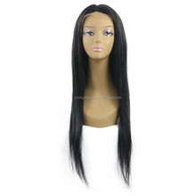 Natural color human hair full lace wig with baby hair overnight delivery , full lace Brazilian human hair wigs for black women