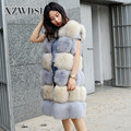 CX-G-B-05C Overcoat Trade Whole Peel Real Fox Fur Vest For Women