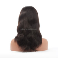 Malaysian virgin human hair long blonde silk top full lace wigs straight bleached knots human hair wigs for white women