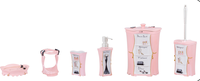 Lady Pink Bathroom Accessories Polyresin Home