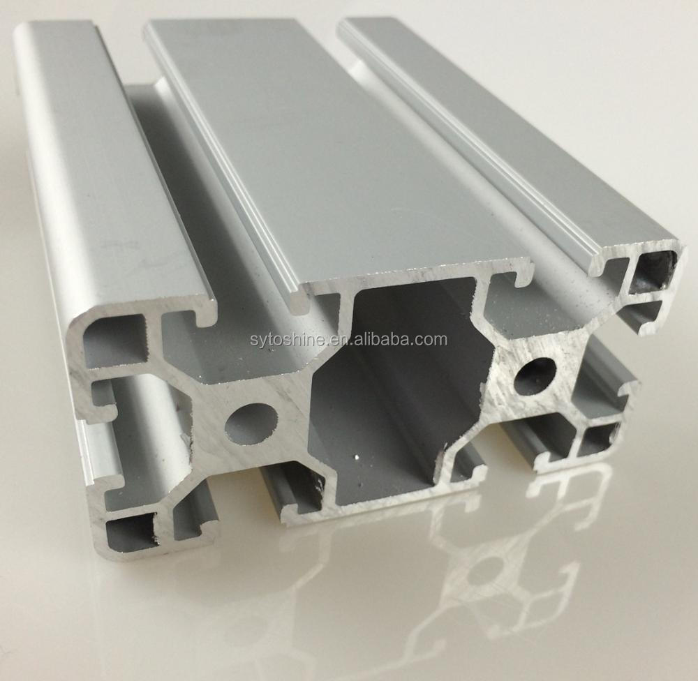 2017 China factory produced aluminium extrusion t slot industrial aluminum profile