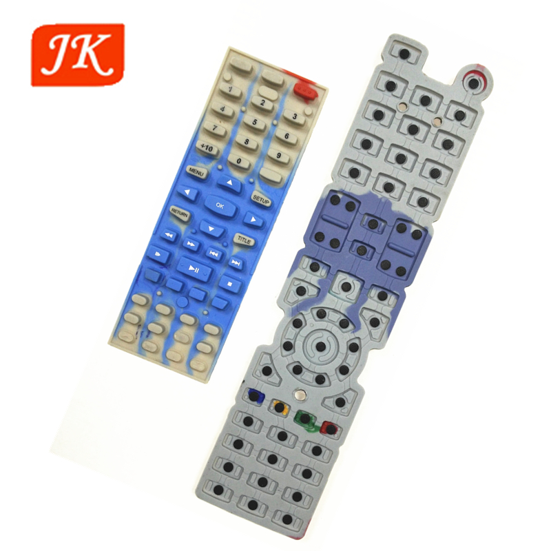 customized silicone rubber keypad with carbon pill for remote control