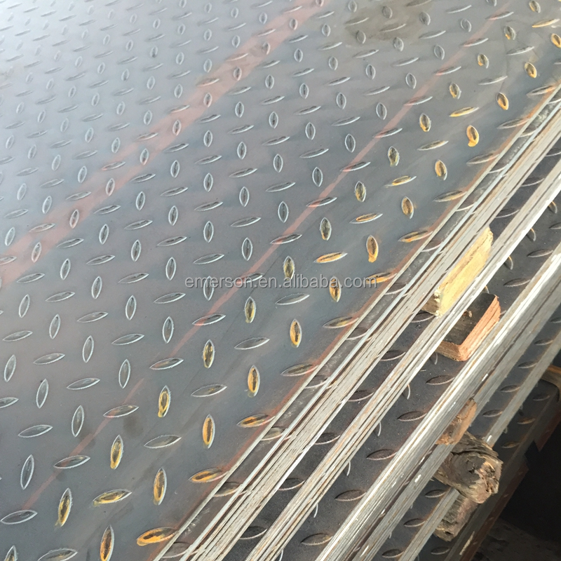 14 Gauge GB Q235 hot rolled mild Structural metal riffled steel sheet standard thickness riffled sheet