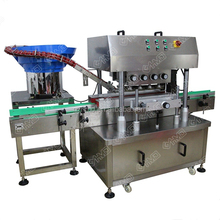 Twist off cover capping machine,plastic bottle screw cover capper,high speed automatic twist off sealing capping