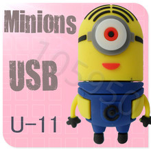 Hot sale U-11 Despicable Me 2 Minions 3D Cartoon USB cartoon characters bulk 256MB 4GB 8GB 16GB 32GB 64GB usb flash drives