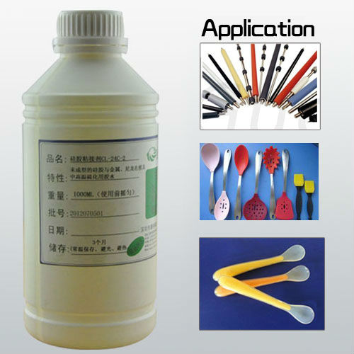 heat cured silicone vulcanizing agent cross bonding adhesive glue for abs plastic