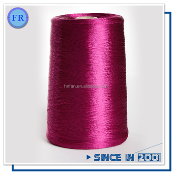 Free sample 100 dyed raw spun polyester thread for sewing