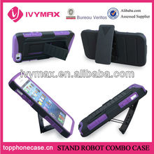 Apple pc silicone 2 in 1 holster combo case for iphone 5