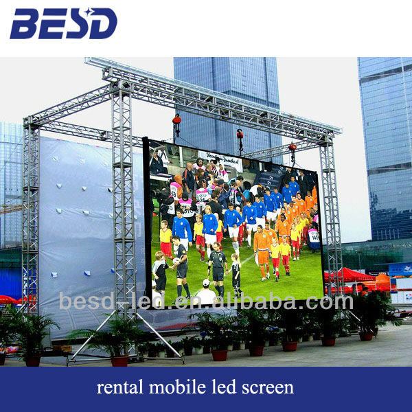 Rental led display with super-thin cabinet good heat dissipation high quality image for indoor outdoor use live show led screen