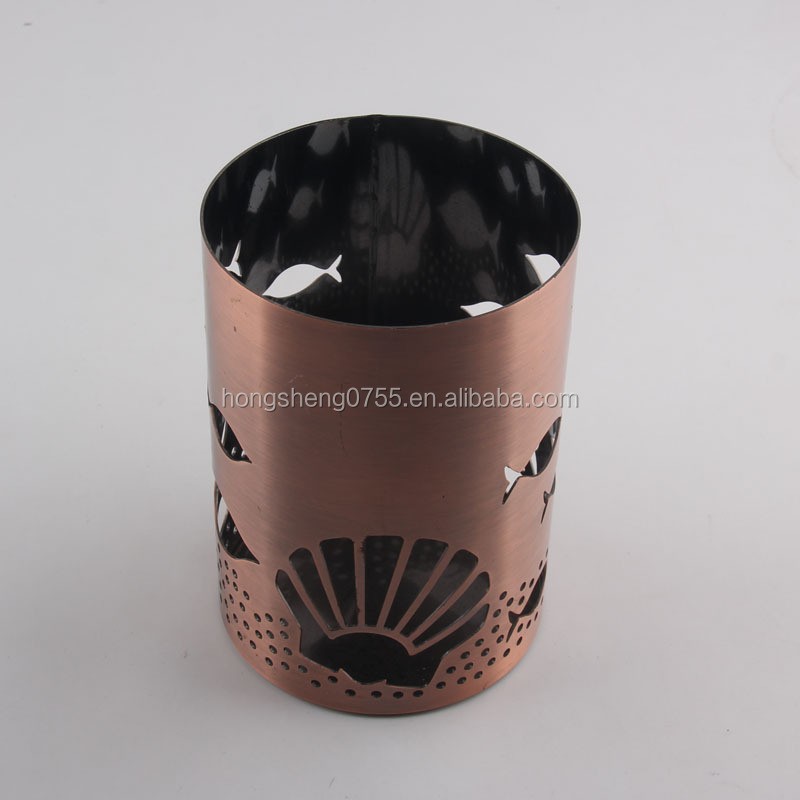 lantern Personality Restoring ancient Hollow out metal candlestick