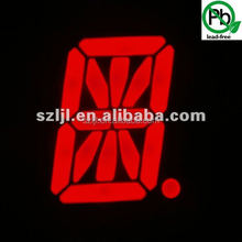 "Red 2.3""/2.3 inch 16 segment alphanumeric led display/high brightness"