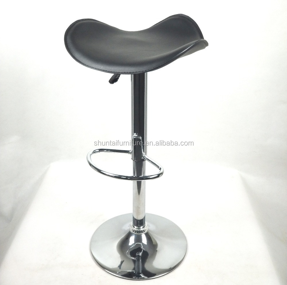 Best Price Colorful Adjustable Salon Barber Stool Colorful Mid Century High Quality Hard PVC Chrome Footrest Bar Chairs