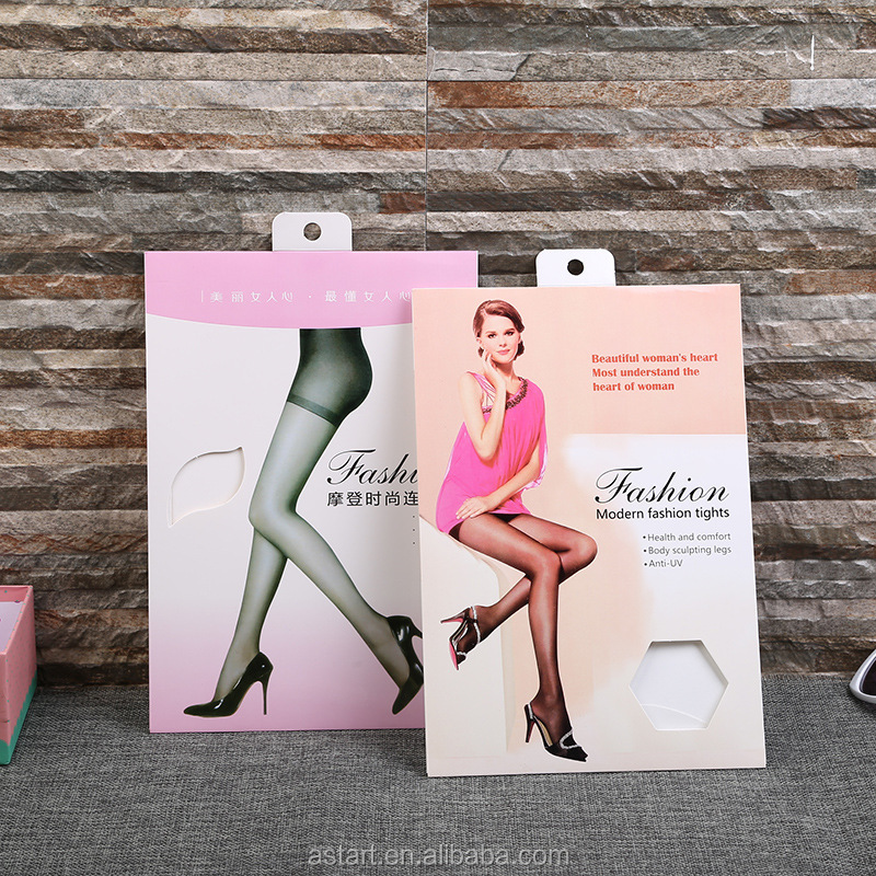 women's paper sleeve packaging for pantyhose silk stockings