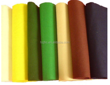 Non woven needled punch felt production
