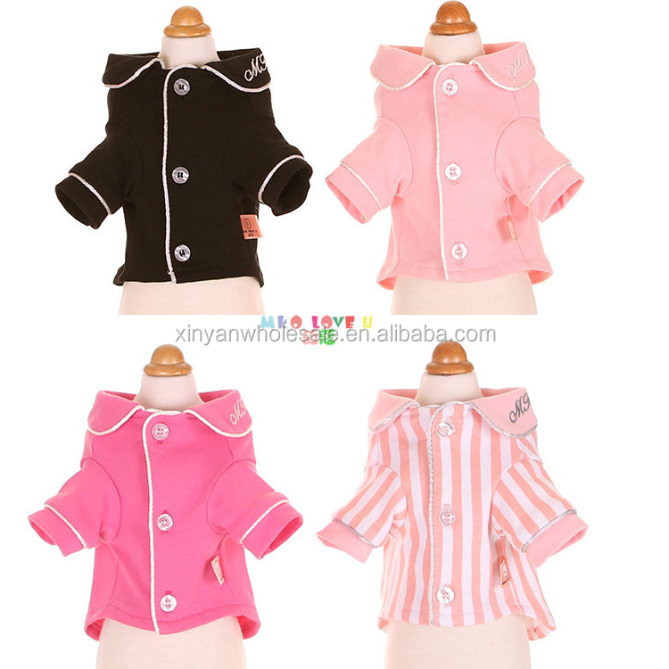 Pet Pajamas Clothes For <strong>Dog</strong> And Cats Spring & Summer Coat Cat Shiet Solid <strong>Dog</strong> Pajamas Soft chihuahua Sleepwear Factory Outlet