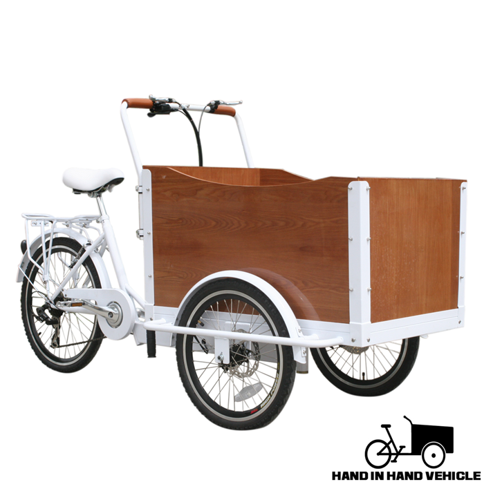 Front loading Three wheels cargo bike