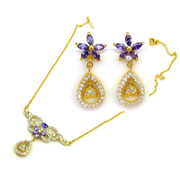 2014 Spring New Arrival Bollywood Imitation Jewelry Set Wedding Necklace And Earring Sets