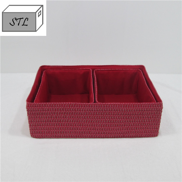 China factory supply cheap household handle PP Fabric Storage Box